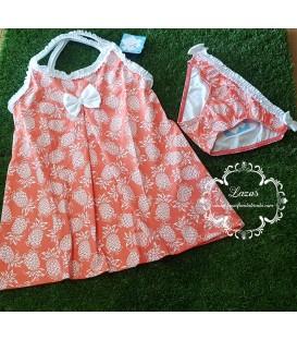 Vestido + Culetin Piñas Sardon