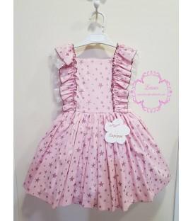 Vestido Estrellas Rosa Lapeppa
