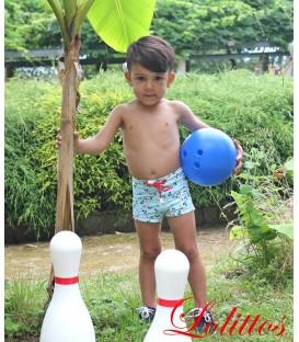 Boxer licra niño anclas lolittos