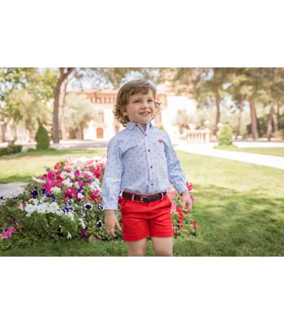 Conjunto de Niño Dolce Petit Rojo y Azul