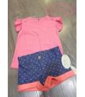 Conjunto Camiseta y pantalon Fluor Rosa Baby Yiro