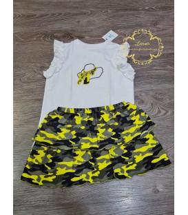 Conjunto Camiseta y Falda Katar La Martinica