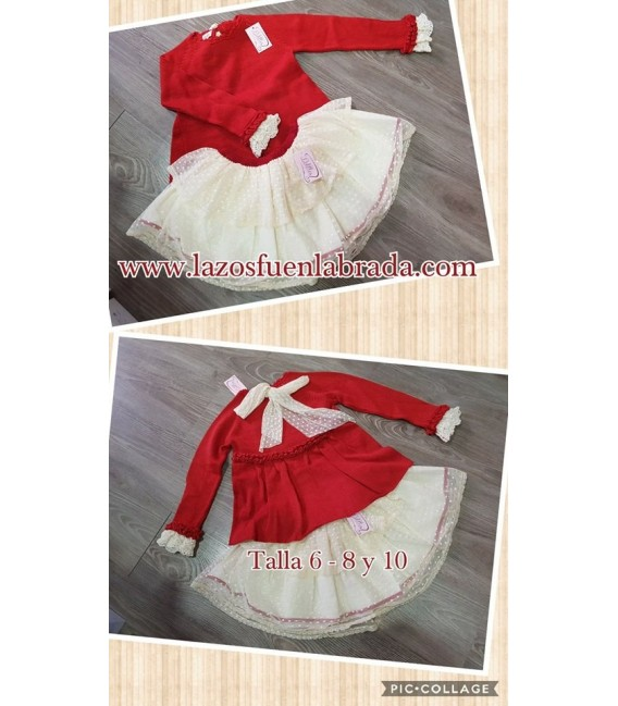 Conjunto Jersey y falda Soldadito de Plomo Lolittos