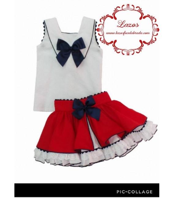 Conjunto de Camisa y Falda Nini Marinero